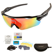 5 Lens Cycling sport Sunglasses Bike Polarized Sun Glasses Bicycle Ultralight Windproof Eyewear UV400 Men Woman