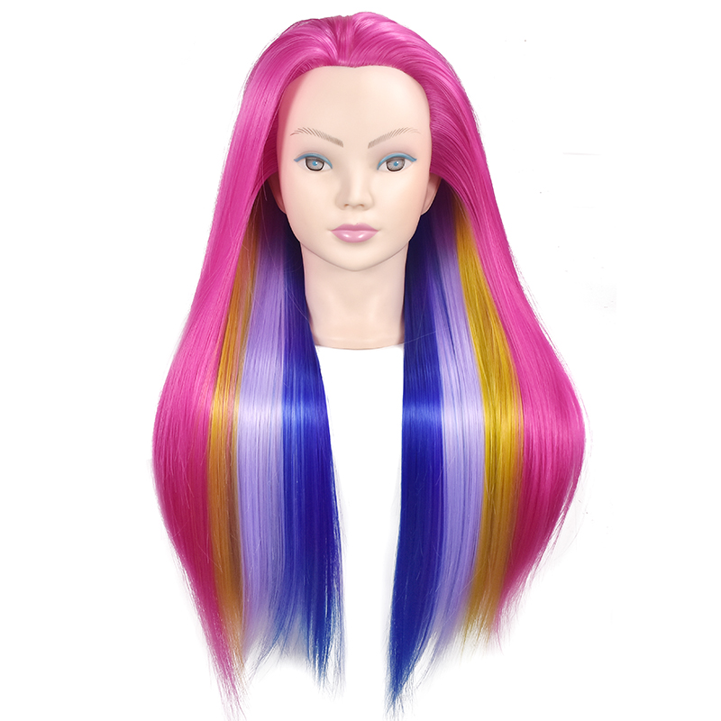 Hairdressing Training Head Practice Cosmetology Hair Doll Styling Hairdressing Mannequin Head with Hair