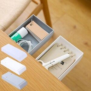 Desk Drawer Organizer Pencil Tray Self-Adhesive Mini Under Desk Drawer Hidden Sundries Storage Holder Pencil Tray Pen Holder