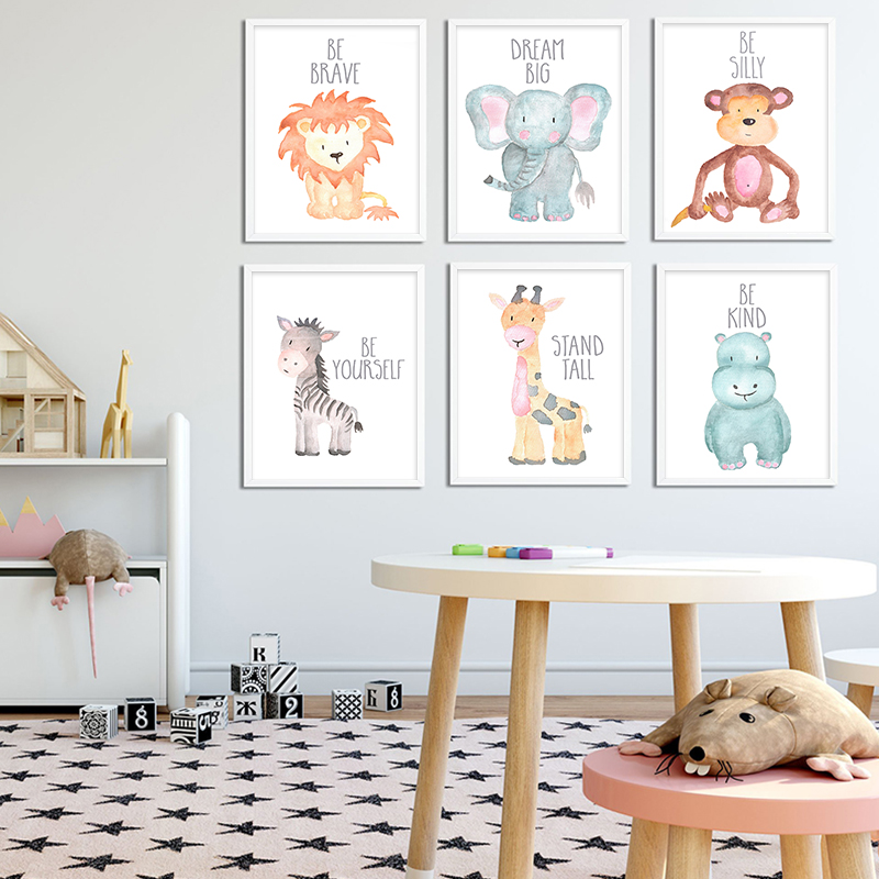 Safari Animal Prints,Mother Baby,Nursery Wall Decor,Baby shower,Motivational Art