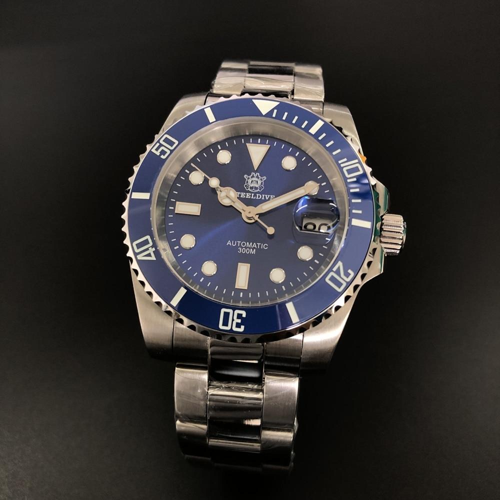 STEELDIVE 1953 Automatic mechanical Watch Men Sapphire Crystal 316L Steel 300m dive watch automatic Japan NH35 Wristwatch Mens