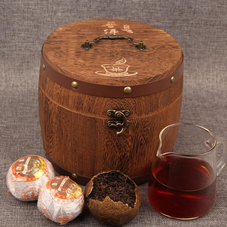 The Oldest Pu'er Tea China Yunnan Mandarin Tangerine Pu'er Tea 420g /Wooden Barrel Green Food For Health Care Weight Lose