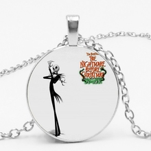 2019 Hot New Products Scared Night Retro Glass Cabochon Necklace Pendant Men and Women Clothing Accessories