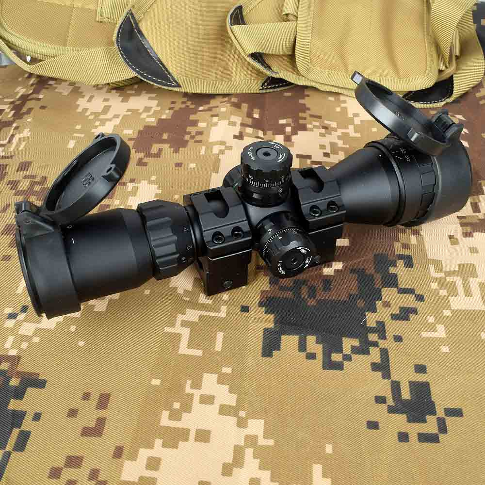 Hunting Optical 3-9x32 AO 1inch Tube Mil-dot Compact Riflescope With Sun Shade And QD Rings Tactical Rifle Scope