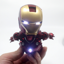 цена на New Hot The Avengers Rotating Flying Iron Man MK Magnetic Floating Ver. with LED Light Iron Man Action Figure Collection Gift