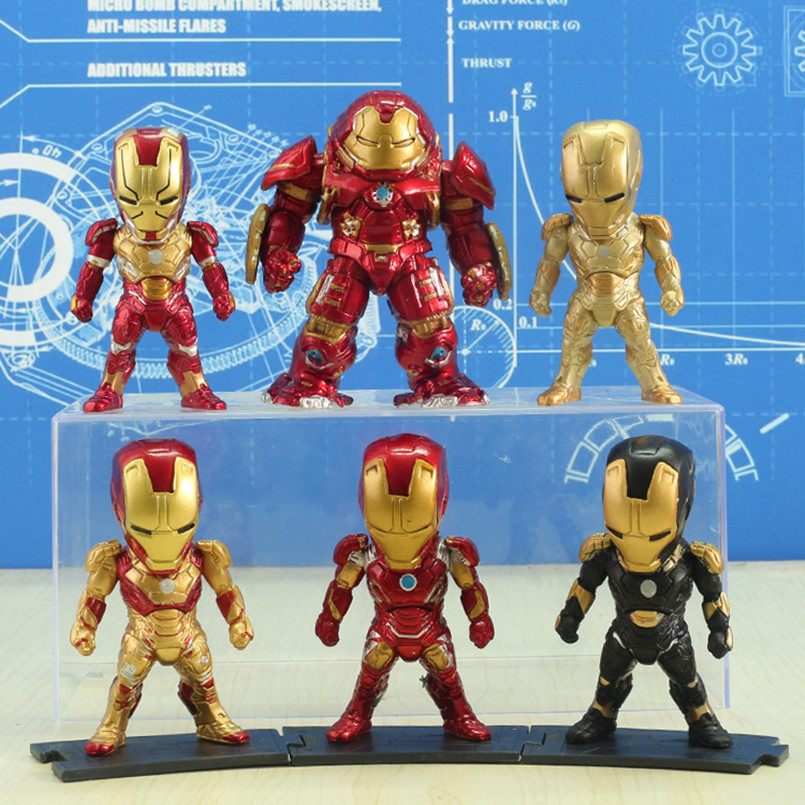 Anime Figure Marvel Avengers 4 Venom Spiderman Iron Man Q Edition 10CM Car Decoration Doll Model Toys Figma Toy