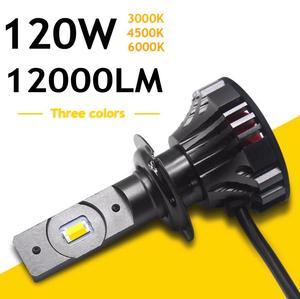 Image 4 - YOTONLIGHT H1 Led Headlight H7 H4 Dual Color H11 Led Bulb 9005 9006 HB3 HB4 120w 12000lm 6500K 3000K 4500K
