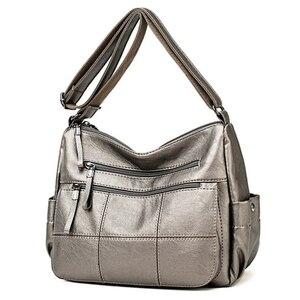Image 1 - حقائب يد ومحافظ فاخرة للنساء ذات سعة كبيرة ، حقائب نسائية مصممة من الجلد والكتف ، حقائب كروس للنساء 2020 كيس