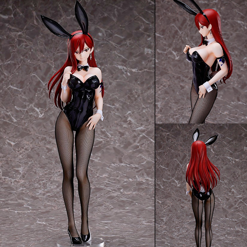 47cm Anime Figure Action Erza écarlate fée queue à collectionner 1/4 peint Figure Anime Statue Sexy modèle fille Figurine