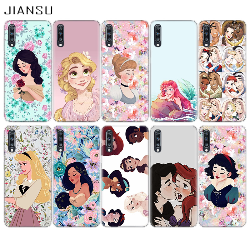 JIANSU Disnays Princess For Samsung A10 A10S A20 A20E A30 A40 A50 A60 A70 Cover M10 M20 M30 M40 Shell A6 A7 A8 A9 +Plus Coque