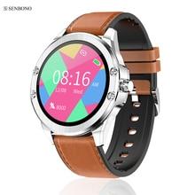 SENBONO reloj deportivo inteligente S11, dispositivo con control del ritmo cardíaco durante el sueño, recordatorio de llamadas y multiesfera, 2020