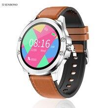 Senbono 2020 S11スマート腕時計フィットネストラッカーサポートマルチダイヤル通話リマインダー心拍数睡眠モニターマルチスポーツスマートウォッチ