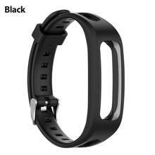 Hot! Siliconen Sport Horloge Band Strap Voor Huawei Band 3e 4e Huawei Honor Band 4 Running Versie Smart Horloge Armband Pols band
