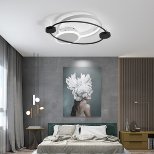 Image 4 - Nordic Simple LED Ceiling Light Modern Acrylic Living Room Warm Romantic Fixture Bedroom Bedside Remote Control New Ceiling Lamp