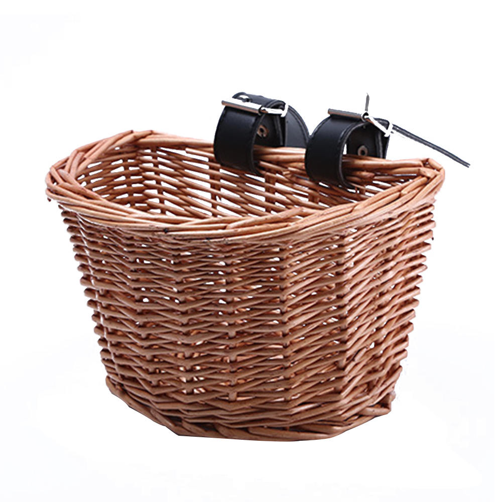 Bicycle Bucket Electric Car Front Rattan Basket Waterproof Sturdy Simple Food Basket High Capacity for Children|Bicycle Bags & Panniers| |  - title=