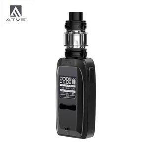 Image 1 - Atvs 228w lâmina cigarro eletrônico kit 18650 caixa mod com 5ml 510 thread tank 228w saída máxima enorme potência por 18650 bateria