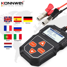 KONNWEI KW208 Tester batteria per auto 12 V da 100 a 2000CCA Tester di ricarica Circut analizzatore batteria 12 volt strumenti batteria