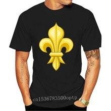 T Shirt fransa kraliyet Fleur De Lys fransız bayrağı Ile De France Armoiries Fran?ais yüksek kaliteli Tee gömlek