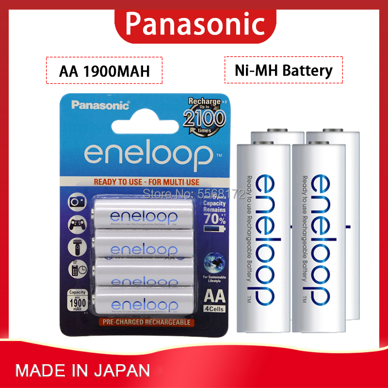 Panasonic Eneloop Original AA Rechargeable Battery 1.2v 1900mAh Pre-charged Nimh AA Battery For Camera Flash Game