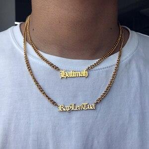 Gold Silver Curb Chain Choker Custom Nam