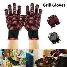 Bbq-Grill-Gloves Baking-Accessories Heat-Resistant Kitchen Silicone Insulation Non-Slip