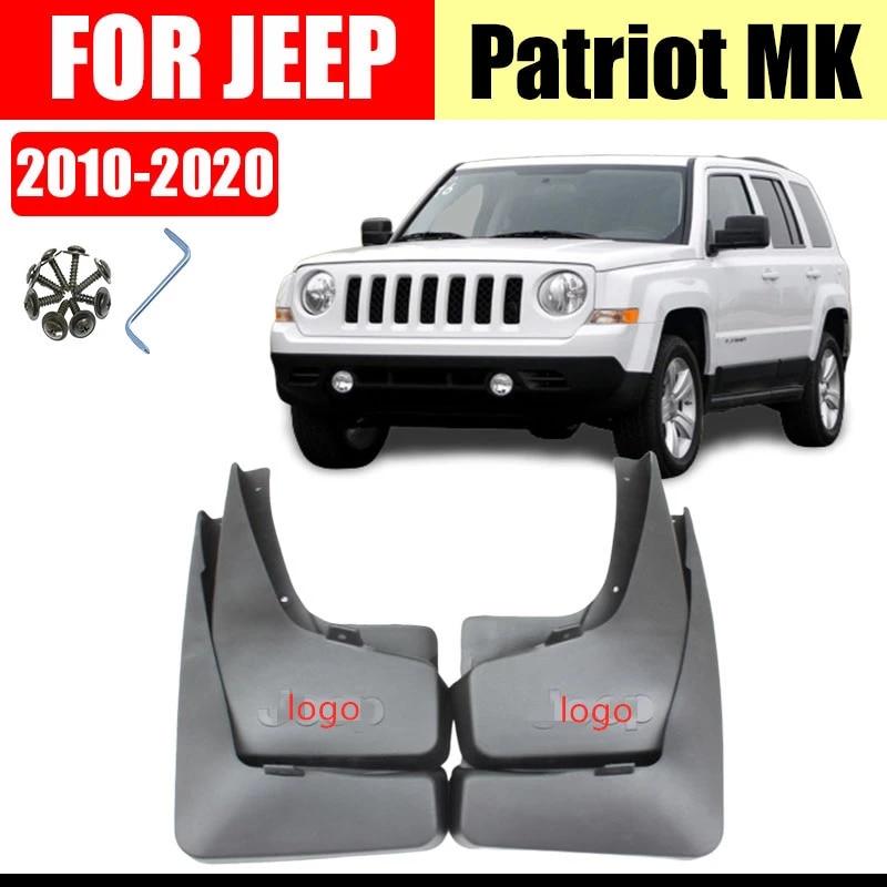New 4pcs Mud Flaps Splash Guards Fender Mudguard Mud Guards Mudflaps for Jeep Patriot 2011 2012 2013 2014 2015 2016 2017 2018 2019 2020