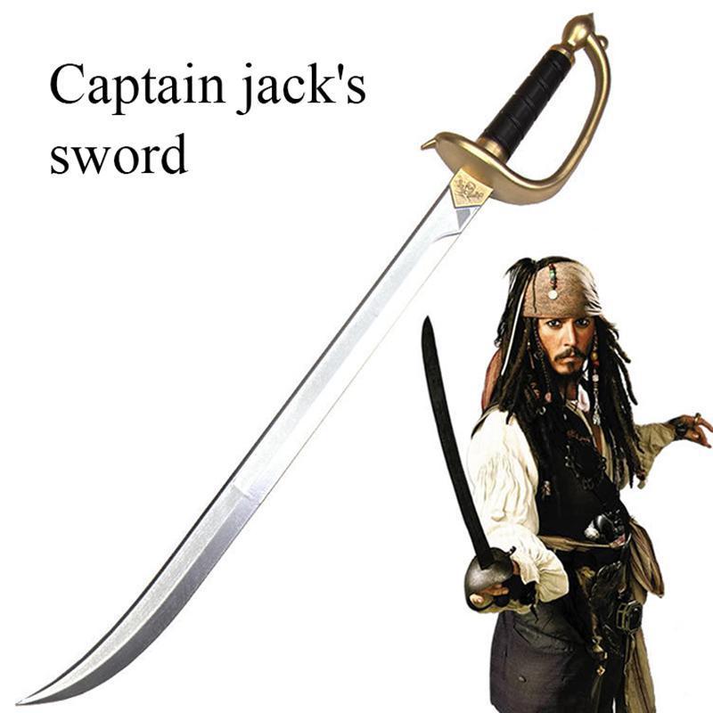 76cm Caribbean Pirate Captain Jack Spallope Sword John Depp Role Playing Sword Props Children Entertainment Toys Festival Gifts