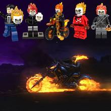 Fantôme Rider Marvel projecteur x-men espoir étés Longshot G. W. Bridge jouets pour enfants blocs de construction Marvel Avengers film(China)