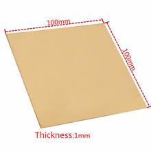 1 шт латунная пластина 1x100x100 мм по индивидуальному размеру