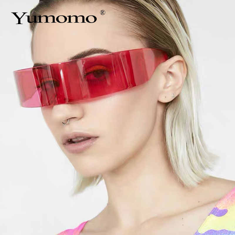 New Funny Futuristic Wrap Around Monob Costume Sunglasses Mask Novelty Glasses Halloween Party Party Supplies Decoration