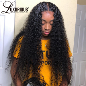 150% Curly Human Hair Wig With Baby Hair Pre-Plucked Lace Front Human Hair Wigs For Women Brazilian Remy Hair Bleached Knots(China)