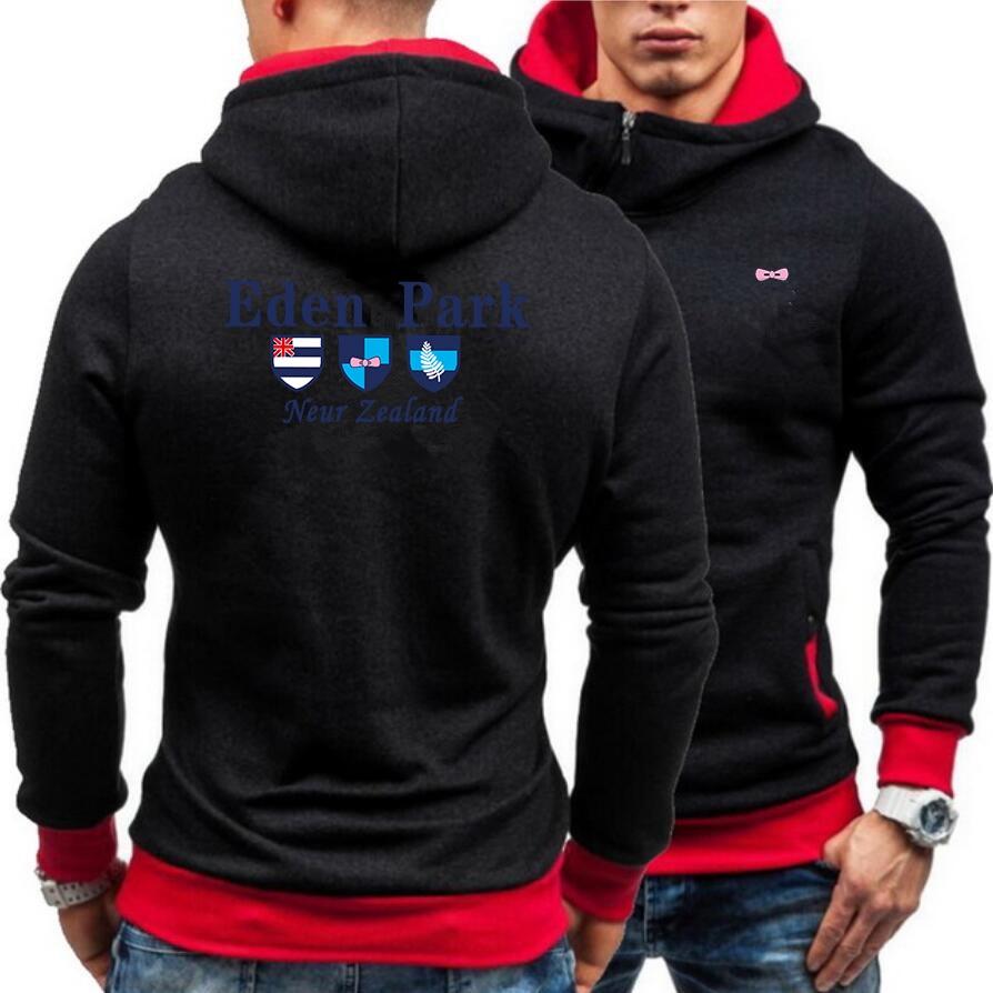 1987 Eden Park French Brand Autumn Brand Men Hoodies Sweatshirts Hoodies Jacket Fashion Zipper Hoody Sportwear Solid Color
