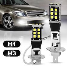 Led-Bulb White 6000K H3 Running-Light-Bulb Auto-Fog-Lamp Super-Bright Day H1 12V 2pcs