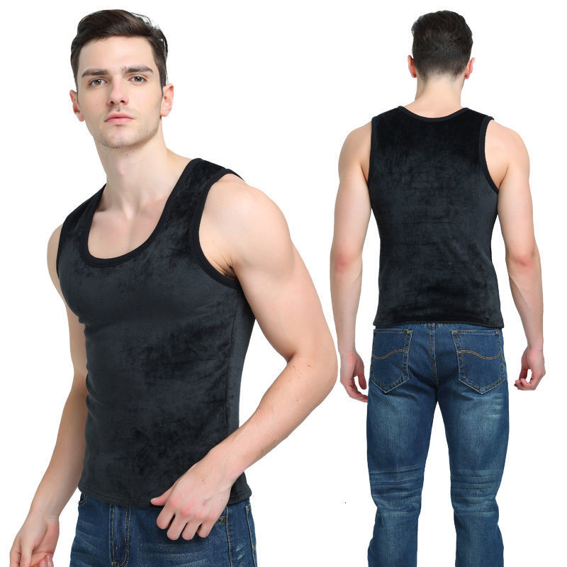 2019 Warm Vest For Man Keep Warm Underwear Men Vest Men's Winter Thermo Shaping Large Size Male Vest Comfortable With Velvet
