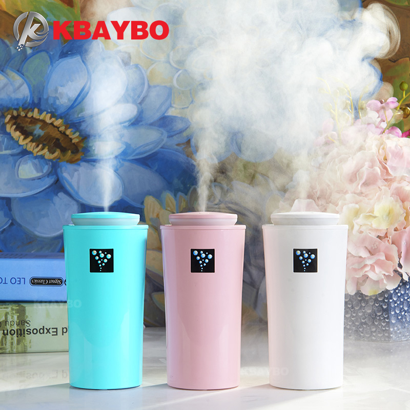 KBAYBO USB Car Humidifier Ultrasonic Humidifier Mini Aroma Essential Oil Diffuser Aromatherapy Mist Maker For Home Office