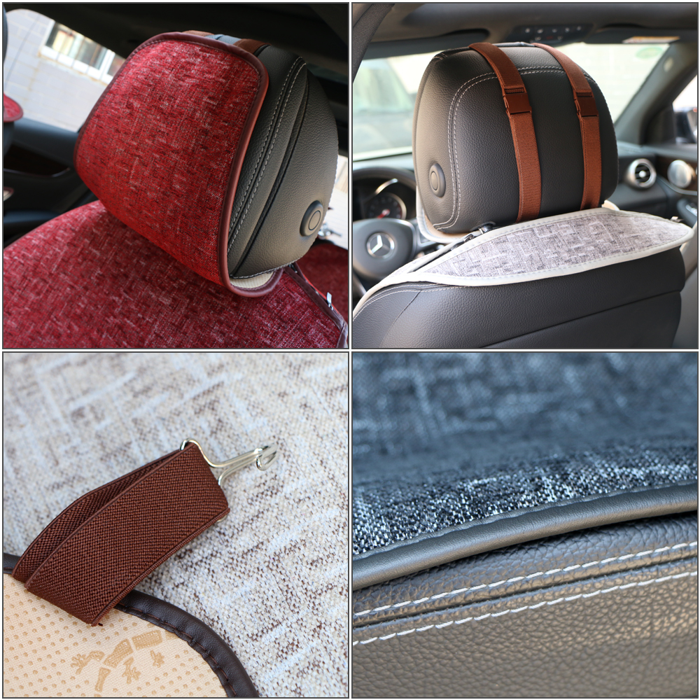 Image 4 - Universal Automobile Seat cover O SHI CAR Artificial Linen Seat Cushion Four seasons Mats For Most Vehicles Boutique Interior-in Automobiles Seat Covers from Automobiles & Motorcycles