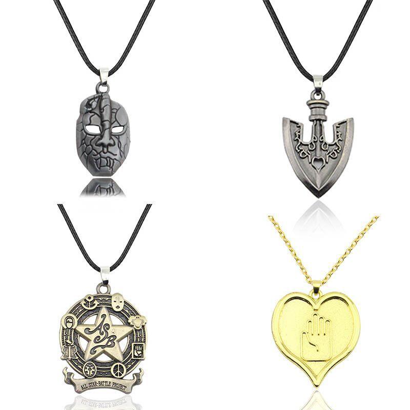 Anime Jojo Bizarre Adventure Cosplay Necklace Kujo Jotaro Dio Brando Metal Jewelry Accessories