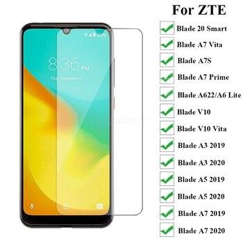 Перейти на Алиэкспресс и купить 3-1Pc закаленное стекло для Zte Blade A7S 20 Smart A7 2020 Vita A3 A5 A7 Prime 2019 V10 защита экрана на 7 7S 5 10Vita Vetro