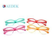 Бренд kaedek новые очки для чтения кошачий глаз прозрачные модные
