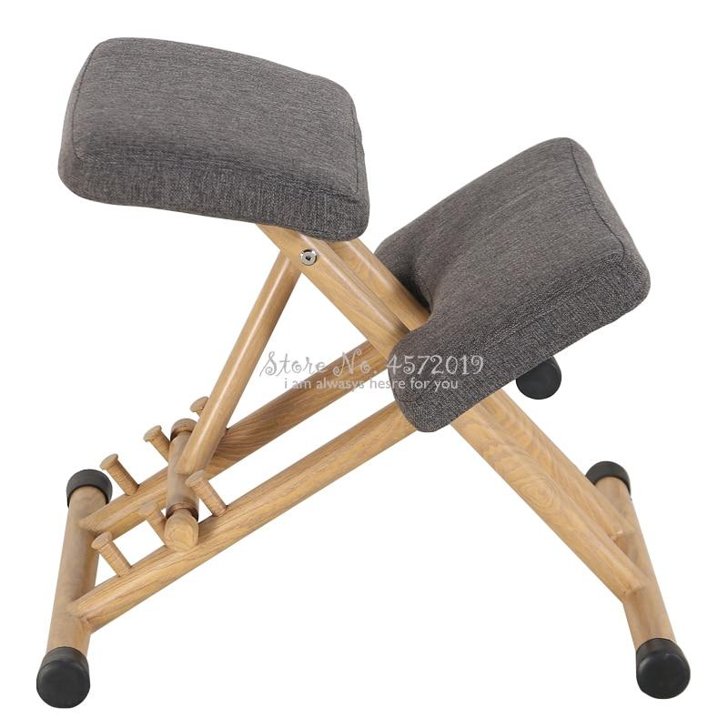 Handle Height Adjust Office Knee Chair Ergonomical Designed Kneeling Chair Stool Ergonomic Correct Posture Chair