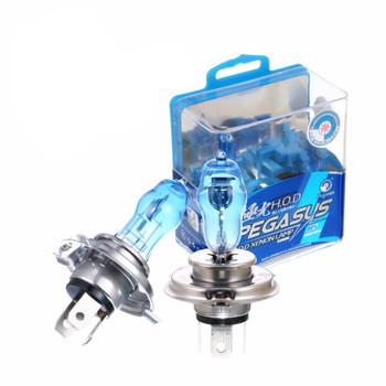 2x HB2 9003 ksenonowe żarówka halogenowa H4 100W 6000K intensywna biała żarówki reflektorów samochodowych automatyczne światło lampa ciemny niebieski kwarc szkło H4 lampa samochodowa tanie i dobre opinie 12 v 100 90W Pegasus H4(9003 HB2) Super White