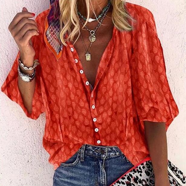 2020 Spring Autumn Women Blouses Button Befree Boho Ruffles Long Full Sleeve Casual Chiffon Big Large Pluse Sizes Tops Shirts(China)