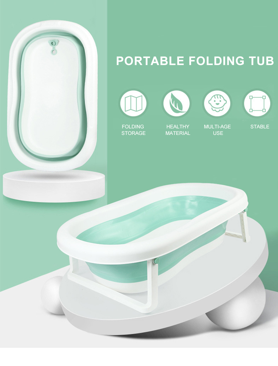 Easy Folding Baby Bath Tub With Non slip Cushion For Safe New Born Baby Bath Tub 9