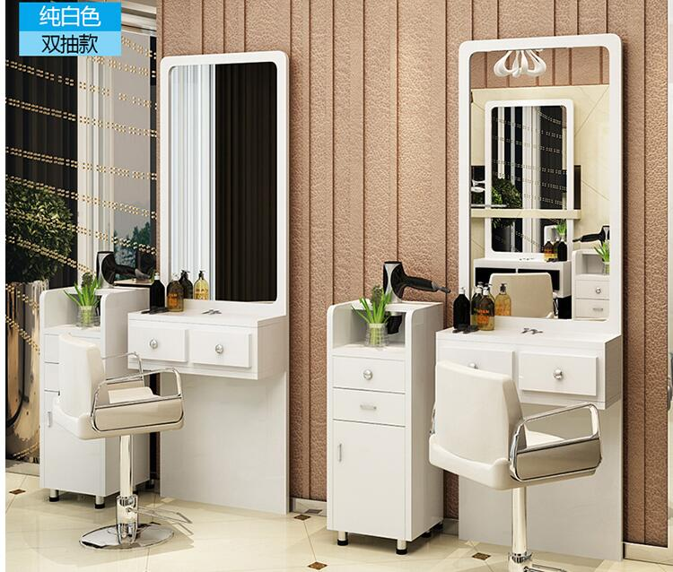 Cosmetic Mirror Simple Hair Salon One-sided Studio Hair Mirror Floor-to-floor Modern Retro Fitting Mirror Barber Shop