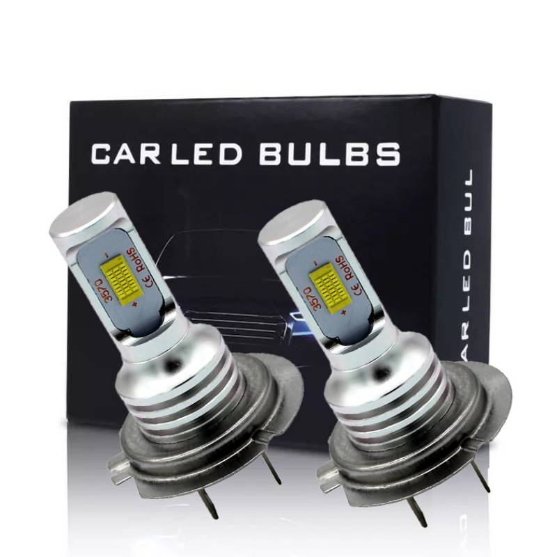2pcs H1 H4 H7 H11 9005 9006 Led Headlight Hulbs H7 LED Car Lights 6000K 80W 12V 24V 4000LM Auto Headlamps image