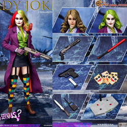In Stock WK89025A 1/6 Lady Joker Action Figure with Three Head Carving Full Set Toys for Collection