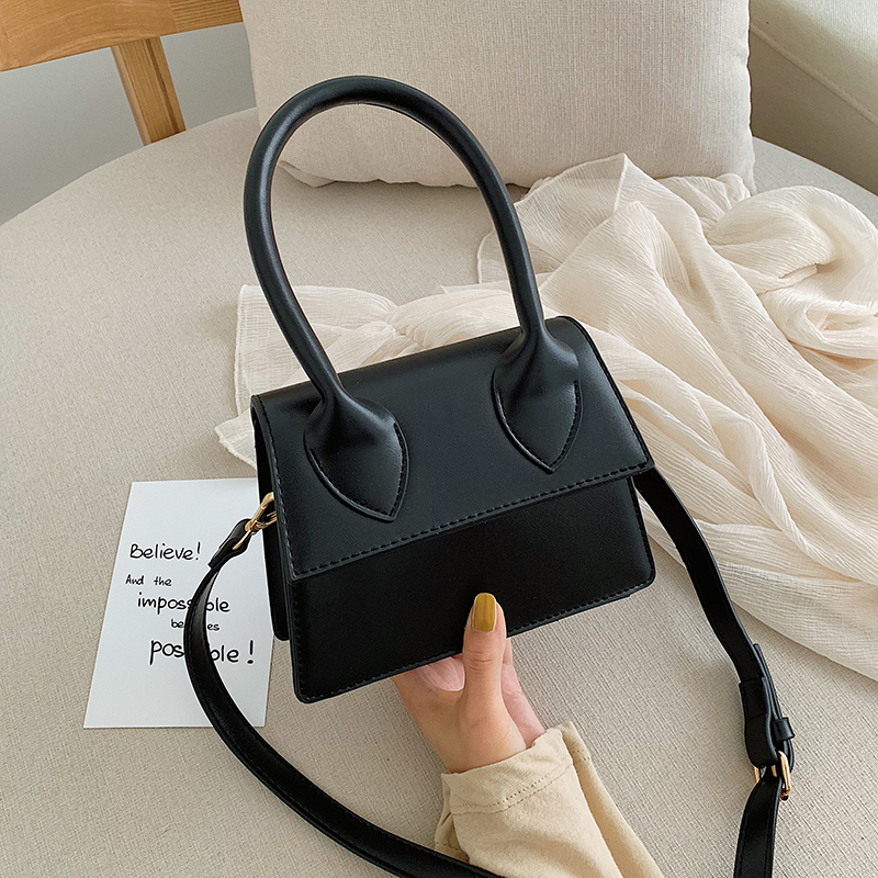 Women Mini Tote Bag 2020 New Pattern Flip Messenger Crossbody Bag Female Simple Shoulder Bag Small Square Lady Handbag