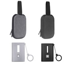 صدمات حمل حالة + غطاء سيليكون كومبو لسامسونج T7 اللمس SSD 500GB 1 تيرا بايت 2 تيرا بايت الخارجية محركات الأقراص الصلبة