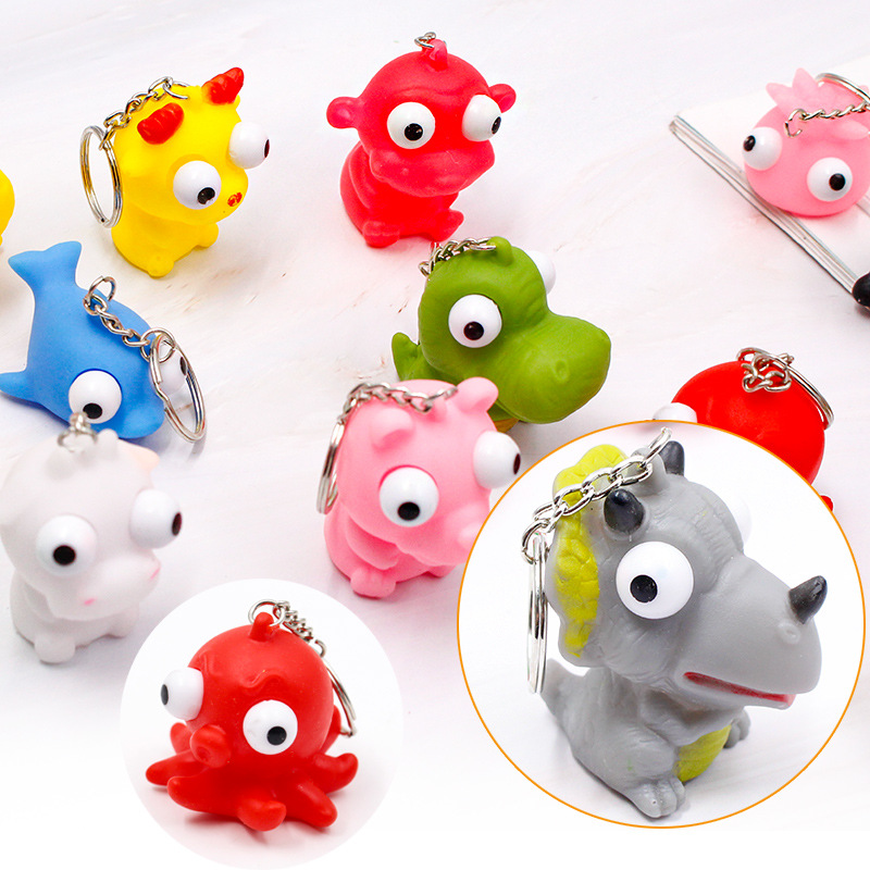 Huilong Full-body Vent Toy, Protruding Eye Doll, Squinting Doll, Drum-eyed Doll, Pop-eyed Doll Squeezing Small Toy