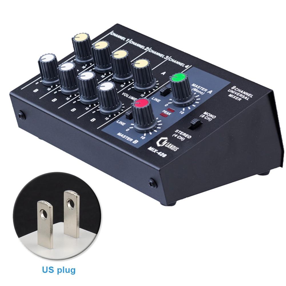 Sound Mikrofon Stereo Mixer Panel Universal Digital Mixing Konsole 8 Kanal Anpassung Karaoke